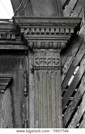 Victorian Pillar in Black and White