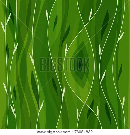Vector leaf seamless pattern. Abstract nature design or abstract