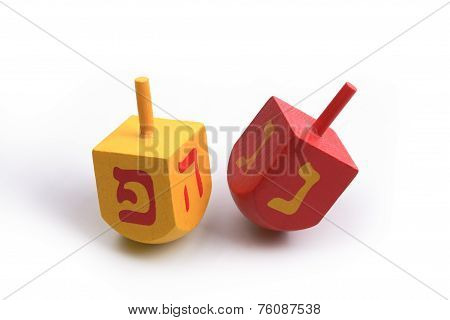 Hanukkah Dreidels, Isolated