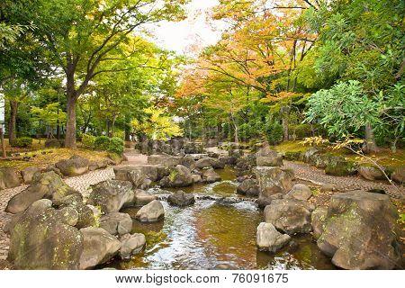 Oyokogawa Shinsui public Park in Sumida districts,Tokyo, Japan.