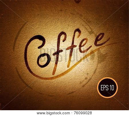 Coffee illustration, coffee design, coffee art, coffee poster. C