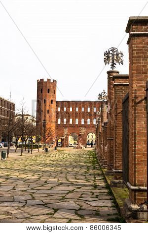 Piazzale Cesare Augusto and the Torri Palatine, Turin