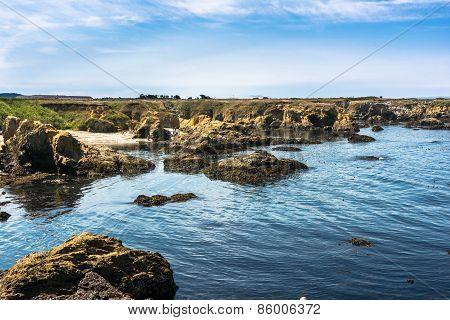 The rocky coast of Fort Bragg, California