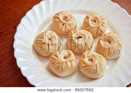 Buuza is a Buryat or Mongolian national dish, paste packets stuffed with minced meat and then steamed