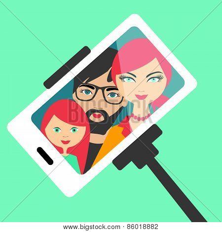 Family Selfie Photo.
