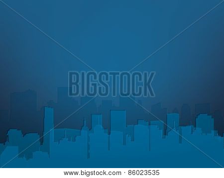 Vector abstract night city background.