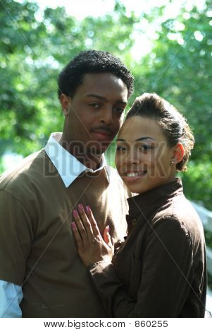 Outdoor Portrait Of Couple