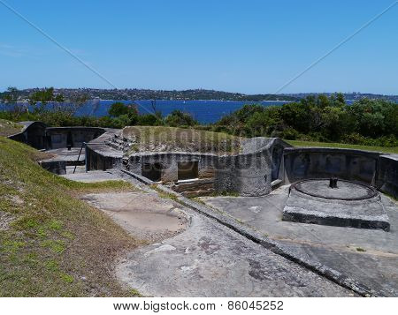 The fortification of middlehead in Mosman in Sydney in Australia poster