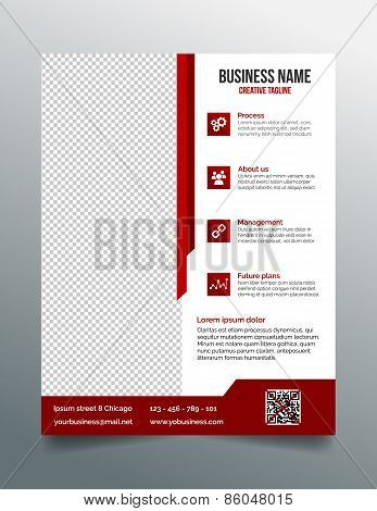 Corporate business flyer template in modern sleek design