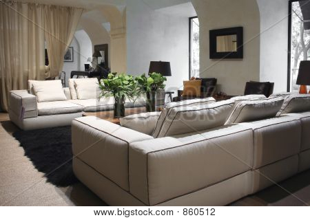 White sofa in interior