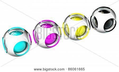 Spheres Cmyk