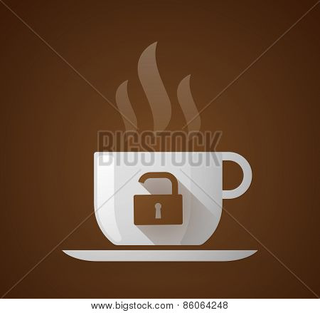 Coffee Cup With A Lock Pad