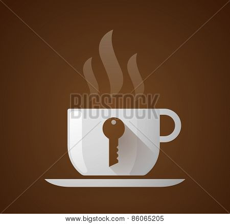 Coffee Cup With A Key