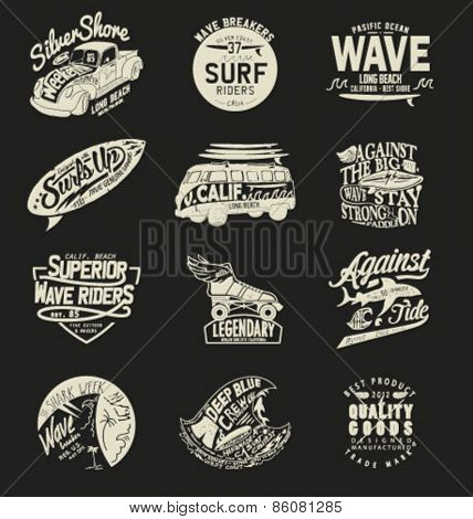 Vintage Surfing Graphics car