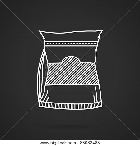 White line vector icon for sport supplements pack