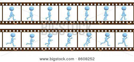 Animation Symbol People Walk Run In Cel Frames