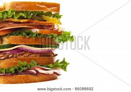 Freshly made sandwich