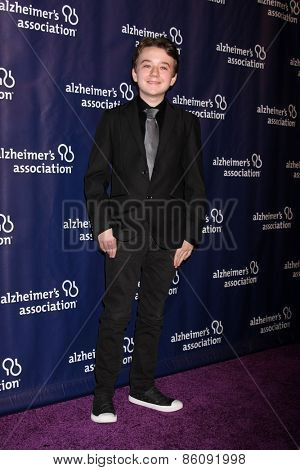 LOS ANGELES - MAR 18:  Benjamin Stockham at the 23rd Annual A Night at Sardi's to benefit the Alzheimer's Association at the Beverly Hilton Hotel on March 18, 2015 in Beverly Hills, CA