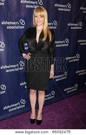 LOS ANGELES - MAR 18:  Melissa Rauch at the 23rd Annual A Night at Sardi's to benefit the Alzheimer's Association at the Beverly Hilton Hotel on March 18, 2015 in Beverly Hills, CA