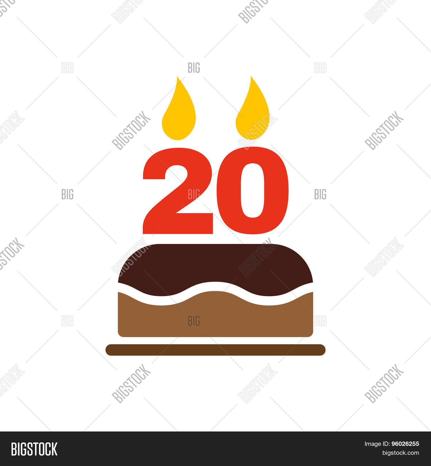 Birthday Cake Candles Form Number Vector Photo Bigstock