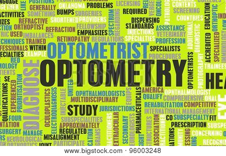 Optometry or Optometrist Medical Field Specialty As Art poster
