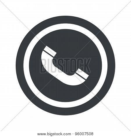 Round black call sign