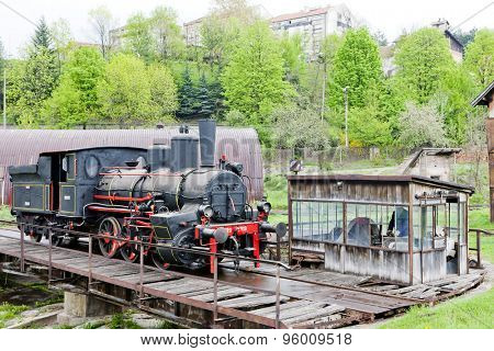 steam locomotive, Resavica, Serbia