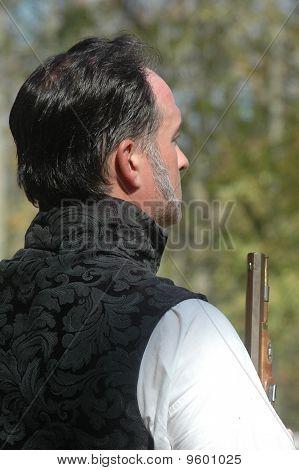 War of 1812 Reenactor Prepares for Duel