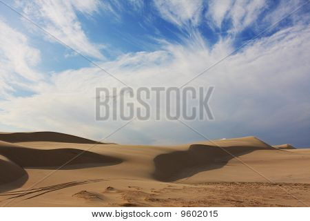 Sand Dunes On Sunny Day