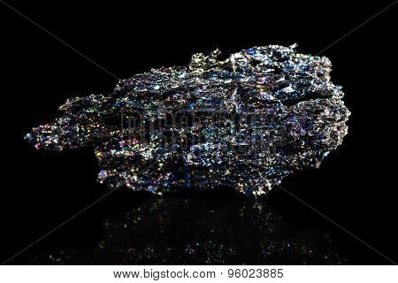 Silicon Carbide In Front Of A Black Background