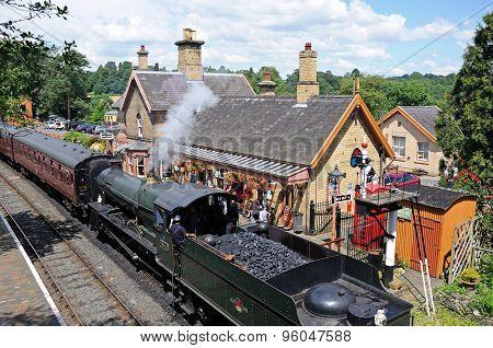 Steam train at Arley Station.