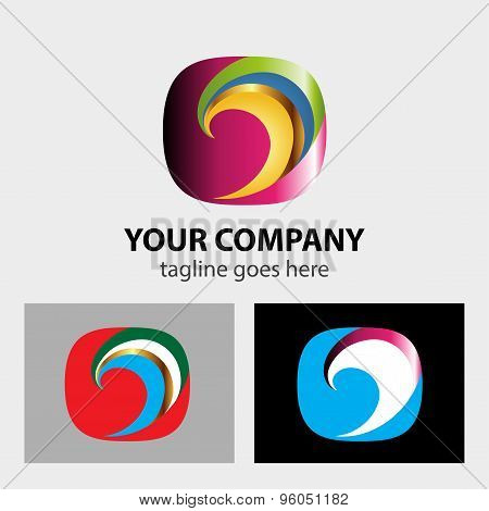 Color Swirl logo design vector illustration template.
