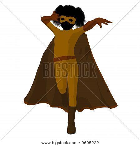 Super Hero Girl Illustration Silhouette
