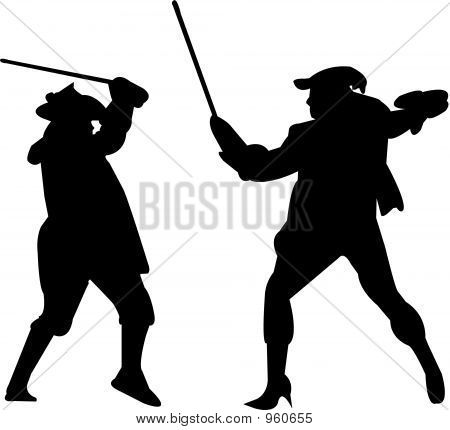 image Two buddies sword fight during summer breakp7