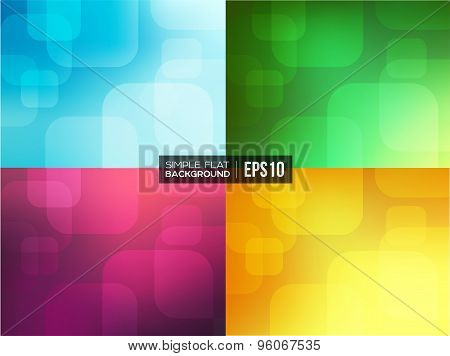Set of simple flat gradient backgrounds