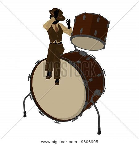 Female Jazz Player Illustration