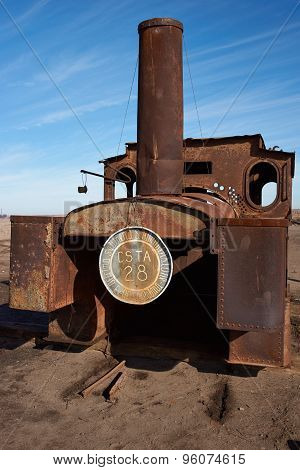 Steam Train at the Humberstone Saltpeter Works