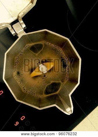 Espresso Coffee Over Glass-ceramic Hob