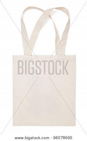 Fabric Cotton Eco Bag On White