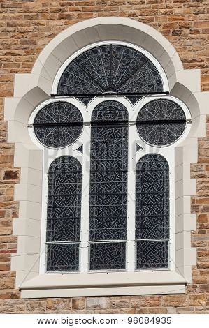 Window Of The Christuskirche In Windhoek, Namibia.
