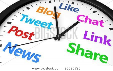 Social Media Networking Time