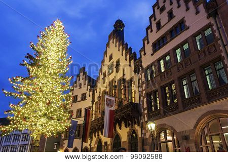 The Römer In Frankfurt Am Main In Germany