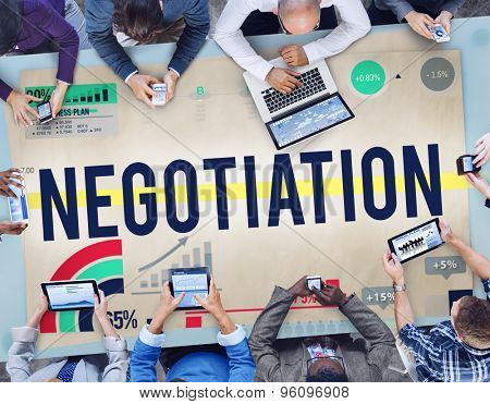 Negotiation Benefit Contract Cooperation Agreement Concept poster