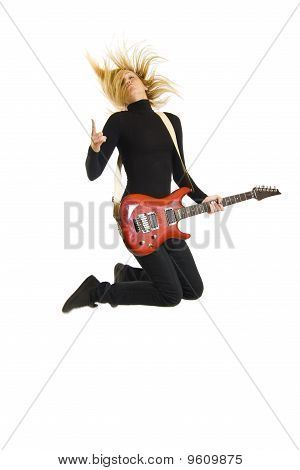 Passionate Woman Guitarist