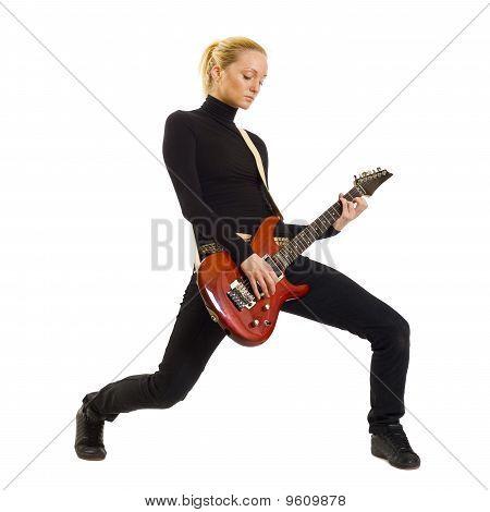 Frau Gitarrist