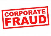 CORPORATE FRAUD red Rubber Stamp over a white background. poster