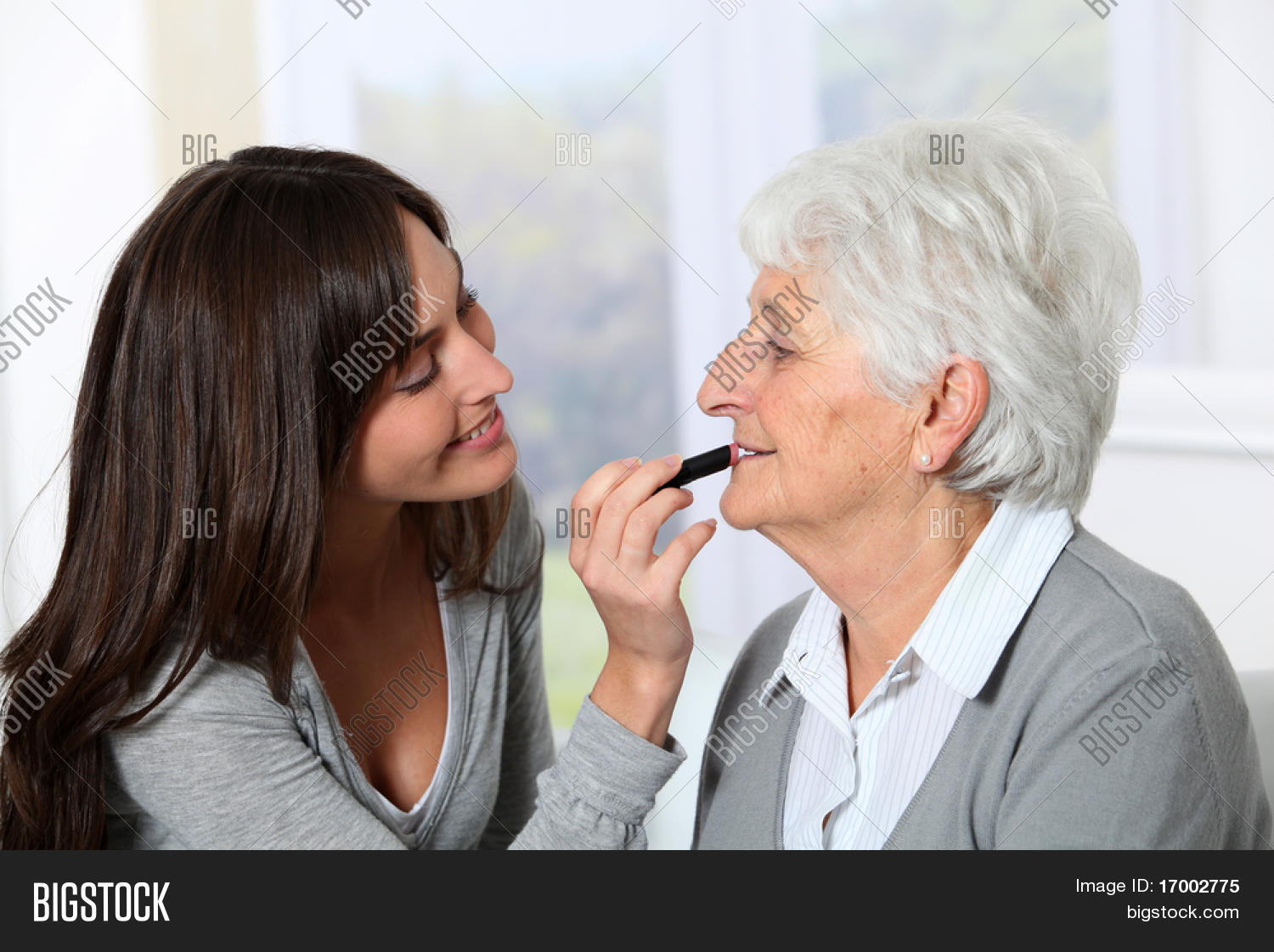 young woman and old woman