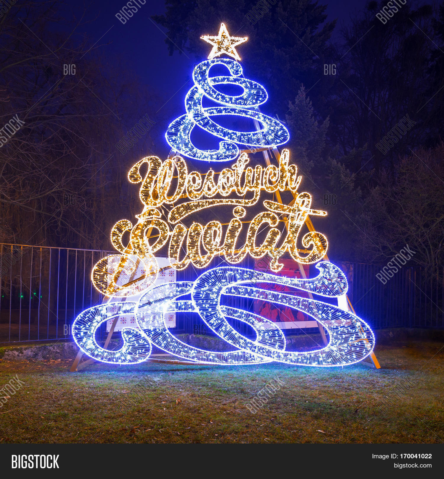 Merry Christmas In Polish.Gdansk Poland Image Photo Free Trial Bigstock