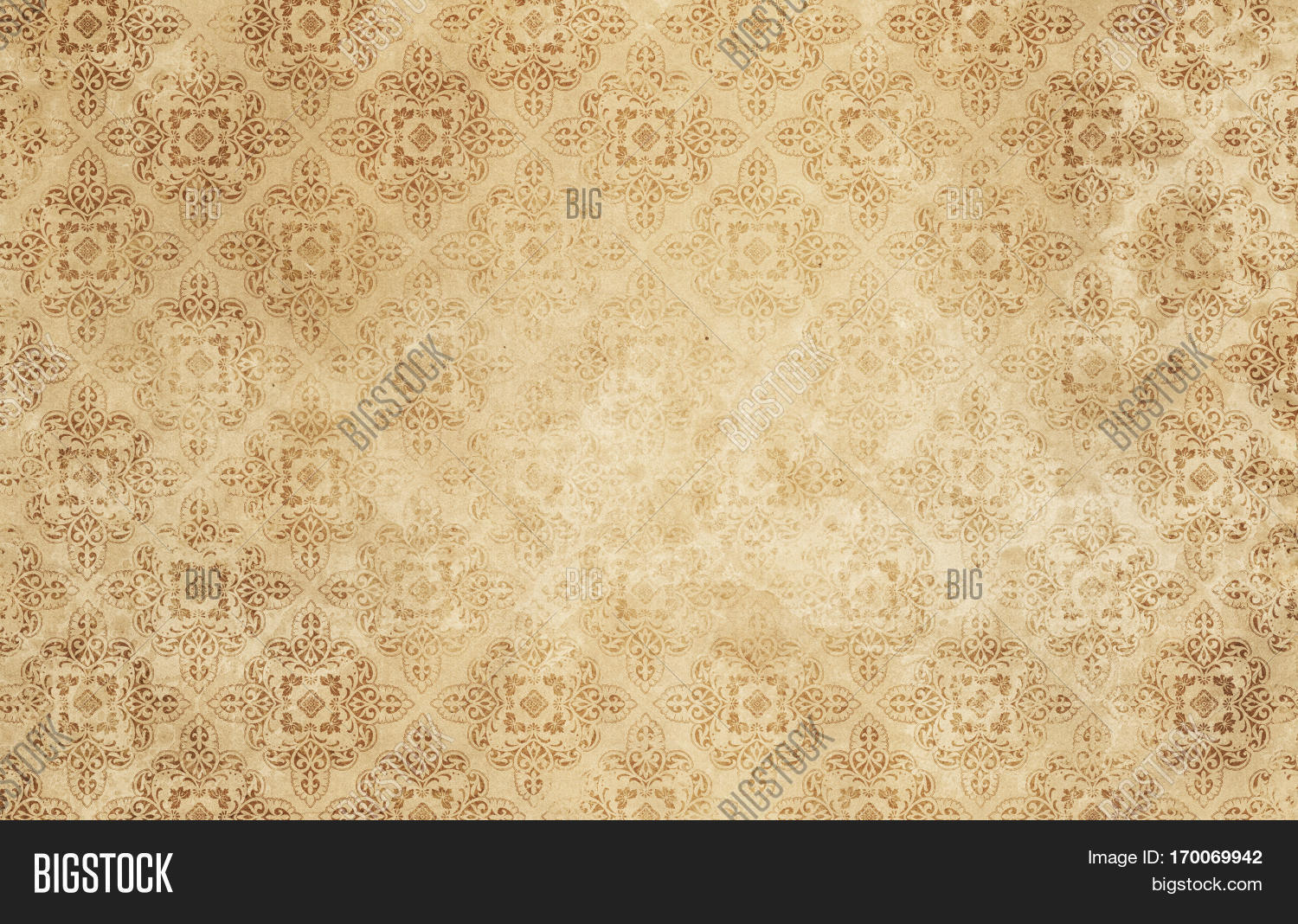 Old Dirty Paper Background With Fashioned Patterns Wallpaper For The Design