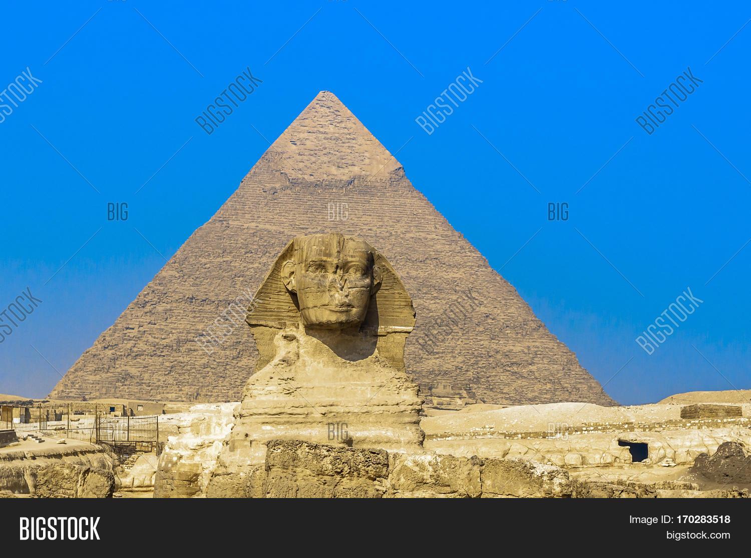 Sphinx Pyramids Giza Image & Photo (Free Trial) | Bigstock